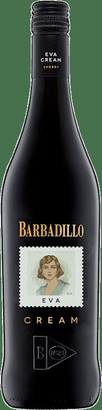 7,95 € Free Shipping | Fortified wine Barbadillo Eva Cream D.O. Jerez-Xérès-Sherry Andalucía y Extremadura Spain Palomino Fino Bottle 75 cl