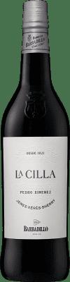 15,95 € Spedizione Gratuita | Vino fortificato Barbadillo La Cilla D.O. Jerez-Xérès-Sherry Andalucía y Extremadura Spagna Pedro Ximénez Bottiglia 75 cl