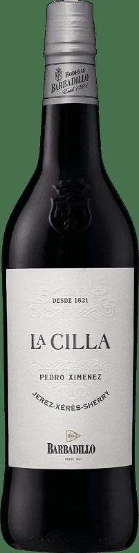 13,95 € Envío gratis   Vino generoso Barbadillo La Cilla D.O. Jerez-Xérès-Sherry Andalucía y Extremadura España Pedro Ximénez Botella 75 cl