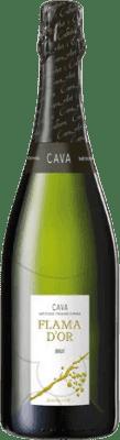 5,95 € Kostenloser Versand | Weißer Sekt Castell d'Or Flama d'Or Brut Joven D.O. Cava Katalonien Spanien Macabeo, Xarel·lo, Parellada Flasche 75 cl