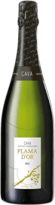 6,95 € Free Shipping | White sparkling Castell d'Or Flama d'Or Brut Joven D.O. Cava Catalonia Spain Macabeo, Xarel·lo, Parellada Bottle 75 cl