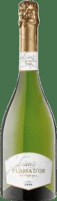 7,95 € Envío gratis | Espumoso blanco Castell d'Or Flama d'Or Imperial Brut Reserva D.O. Cava Cataluña España Macabeo, Xarel·lo, Chardonnay, Parellada Botella 75 cl