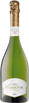 8,95 € Free Shipping | White sparkling Castell d'Or Flama d'Or Imperial Brut Reserva D.O. Cava Catalonia Spain Macabeo, Xarel·lo, Chardonnay, Parellada Bottle 75 cl