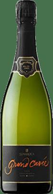9,95 € Kostenloser Versand | Weißer Sekt Sumarroca Cuvée Brut Natur Gran Reserva D.O. Cava Katalonien Spanien Chardonnay, Parellada Flasche 75 cl