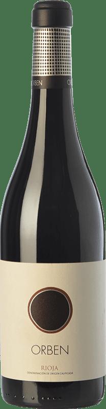 38,95 € Envío gratis | Vino tinto Orben Crianza D.O.Ca. Rioja La Rioja España Botella Mágnum 1,5 L
