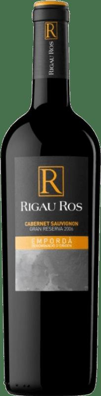9,95 € Envío gratis | Vino tinto Oliveda Rigau Ros Cabernet Gran Reserva D.O. Empordà Cataluña España Merlot, Cabernet Sauvignon Botella 75 cl