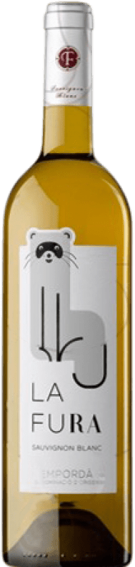 6,95 € Envío gratis | Vino blanco Oliveda La Fura Crianza D.O. Empordà Cataluña España Sauvignon Blanca Botella 75 cl