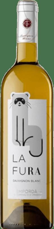 6,95 € Free Shipping | White wine Oliveda La Fura Crianza D.O. Empordà Catalonia Spain Sauvignon White Bottle 75 cl