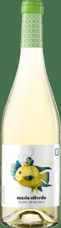 4,95 € Envío gratis | Vino blanco Oliveda Masía Joven D.O. Empordà Cataluña España Macabeo, Chardonnay Botella 75 cl
