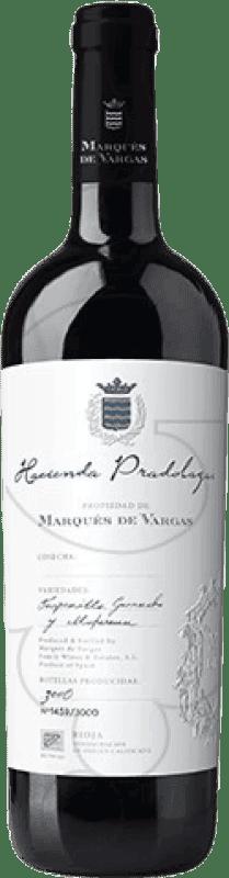 108,95 € Envío gratis | Vino tinto Marqués de Vargas H. Pradolagar D.O.Ca. Rioja La Rioja España Tempranillo, Garnacha, Mazuelo, Cariñena Botella 75 cl