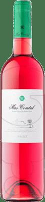 7,95 € Free Shipping | Rosé wine Mas Comtal Joven D.O. Penedès Catalonia Spain Merlot Bottle 75 cl
