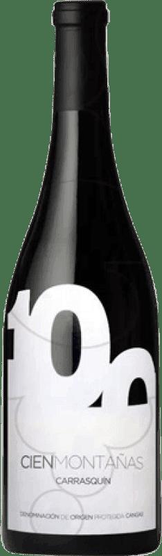 17,95 € Envío gratis | Vino tinto Vidas Cien Montañas Crianza D.O.P. Vino de Calidad de Cangas Castilla y León España Carrasquín Botella 75 cl