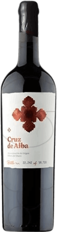 49,95 € Free Shipping | Red wine Cruz De Alba Crianza D.O. Ribera del Duero Castilla y León Spain Tempranillo Jéroboam Bottle-Double Magnum 3 L