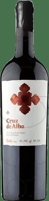49,95 € Kostenloser Versand | Rotwein Cruz De Alba Crianza D.O. Ribera del Duero Kastilien und León Spanien Tempranillo Jéroboam Flasche-Doppel Magnum 3 L