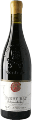 79,95 € Free Shipping | Red wine Chapoutier Barbe Rac 2008 A.O.C. Châteauneuf-du-Pape France Grenache Bottle 75 cl