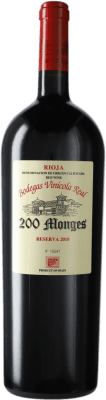 79,95 € Free Shipping   Red wine Vinícola Real 200 Monges Reserva 2010 D.O.Ca. Rioja The Rioja Spain Tempranillo, Grenache, Graciano Magnum Bottle 1,5 L