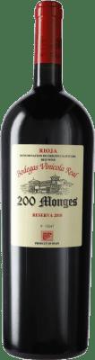 79,95 € Envoi gratuit | Vin rouge Vinícola Real 200 Monges Reserva 2010 D.O.Ca. Rioja La Rioja Espagne Tempranillo, Grenache, Graciano Bouteille Magnum 1,5 L
