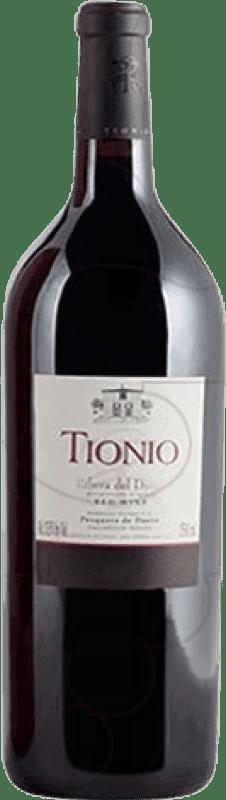 34,95 € Free Shipping | Red wine Tionio Crianza D.O. Ribera del Duero Castilla y León Spain Tempranillo Magnum Bottle 1,5 L