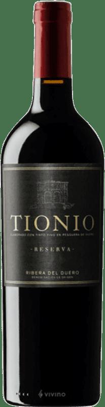 19,95 € Free Shipping | Red wine Tionio Reserva D.O. Ribera del Duero Castilla y León Spain Tempranillo Bottle 75 cl