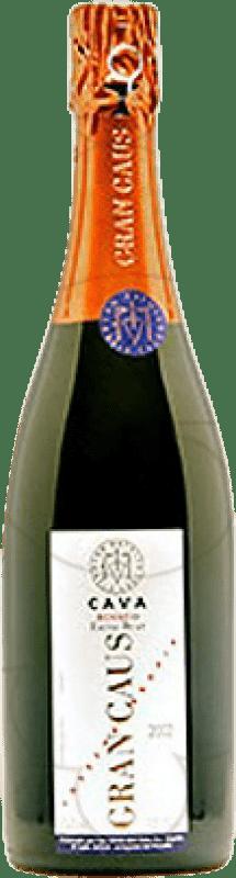 15,95 € Envoi gratuit | Rosé moussant Can Ràfols Gran Caus Rosat Brut Nature Reserva D.O. Cava Catalogne Espagne Pinot Noir Bouteille 75 cl