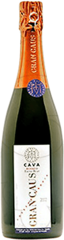 13,95 € Free Shipping | Rosé sparkling Can Ràfols Gran Caus Rosat Brut Nature Reserva D.O. Cava Catalonia Spain Pinot Black Bottle 75 cl