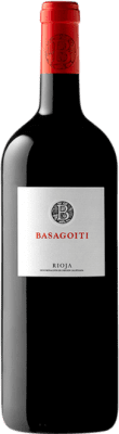 23,95 € Free Shipping | Red wine Basagoiti Crianza D.O.Ca. Rioja The Rioja Spain Tempranillo Magnum Bottle 1,5 L