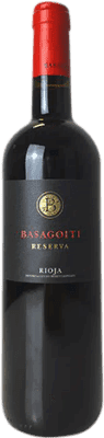 16,95 € Free Shipping | Red wine Basagoiti Reserva D.O.Ca. Rioja The Rioja Spain Tempranillo, Grenache, Graciano Bottle 75 cl