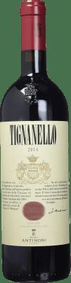 119,95 € Free Shipping | Red wine Tignanello Antinori Otras D.O.C. Italia Italy Cabernet Sauvignon, Sangiovese, Cabernet Franc Bottle 75 cl