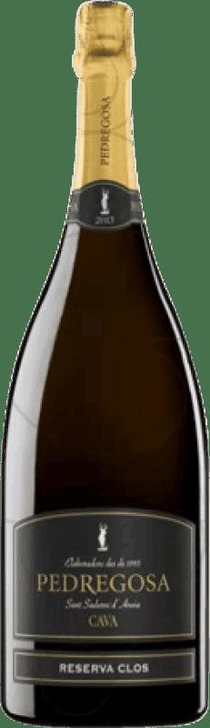 16,95 € Free Shipping | White sparkling Pedregosa Clos Brut Nature Reserva D.O. Cava Catalonia Spain Macabeo, Xarel·lo, Parellada Magnum Bottle 1,5 L