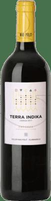 7,95 € Free Shipping | Red wine Mas Pòlit Terra Indika Crianza D.O. Empordà Catalonia Spain Grenache Bottle 75 cl