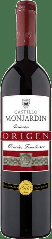 8,95 € Free Shipping | Red wine Castillo de Monjardín Crianza D.O. Navarra Navarre Spain Tempranillo, Merlot, Cabernet Sauvignon Bottle 75 cl