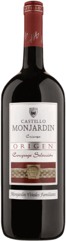 23,95 € Free Shipping | Red wine Castillo de Monjardín Crianza D.O. Navarra Navarre Spain Tempranillo, Merlot, Cabernet Sauvignon Jeroboam Bottle-Double Magnum 3 L