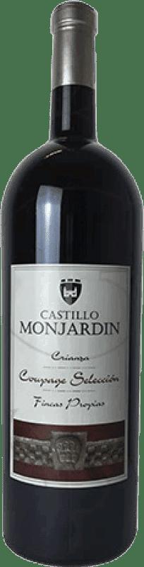 13,95 € Free Shipping | Red wine Castillo de Monjardín Crianza D.O. Navarra Navarre Spain Tempranillo, Merlot, Cabernet Sauvignon Magnum Bottle 1,5 L