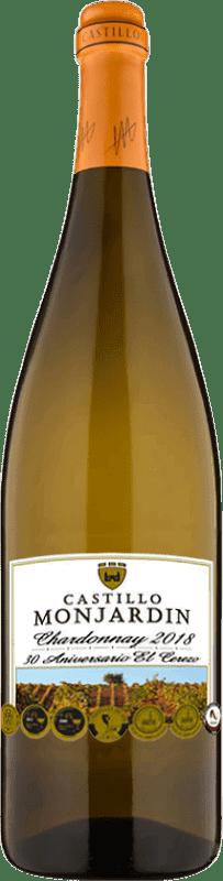 29,95 € Free Shipping | White wine Castillo de Monjardín Joven D.O. Navarra Navarre Spain Chardonnay Jeroboam Bottle-Double Magnum 3 L