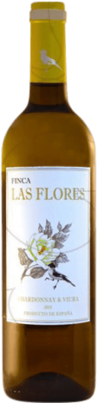 5,95 € Free Shipping | White wine Castillo de Monjardín Finca las Flores Joven D.O. Navarra Navarre Spain Macabeo, Chardonnay Bottle 75 cl
