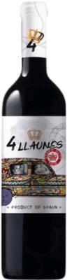 6,95 € Free Shipping | Red wine Family Owned 4 Llaunes Joven Levante Spain Monastrell Bottle 75 cl