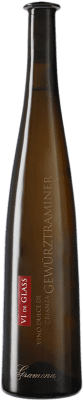36,95 € Envio grátis | Vinho fortificado Gramona Vi de Glass Vino de Hielo 2009 D.O. Penedès Catalunha Espanha Gewürztraminer Garrafa 75 cl