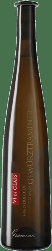 31,95 € 免费送货 | 强化酒 Gramona Vi de Glass Vino de Hielo 2009 D.O. Penedès 加泰罗尼亚 西班牙 Gewürztraminer 瓶子 75 cl