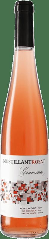 7,95 € 免费送货 | 玫瑰气泡酒 Gramona Mustillant Rosat Vi d'Agulla D.O. Penedès 加泰罗尼亚 西班牙 Merlot, Syrah 瓶子 75 cl