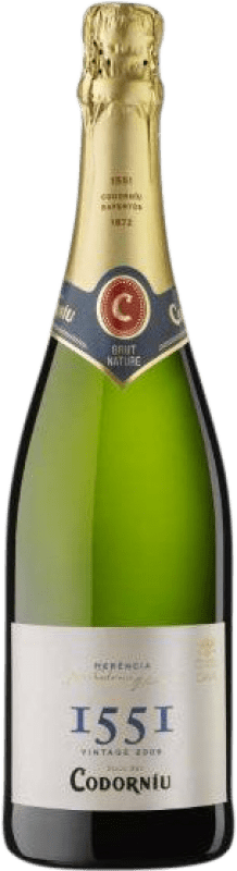 6,95 € Free Shipping | White sparkling Codorníu 1551 Brut Nature Joven D.O. Cava Catalonia Spain Macabeo, Xarel·lo, Parellada Bottle 75 cl