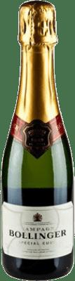 26,95 € Envoi gratuit | Blanc moussant Bollinger Cuvée Brut Gran Reserva A.O.C. Champagne France Pinot Noir, Chardonnay, Pinot Meunier Demi Bouteille 37 cl