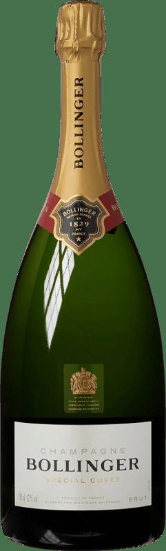 102,95 € Envoi gratuit | Blanc moussant Bollinger Cuvée Brut Gran Reserva A.O.C. Champagne France Pinot Noir, Chardonnay, Pinot Meunier Bouteille Magnum 1,5 L