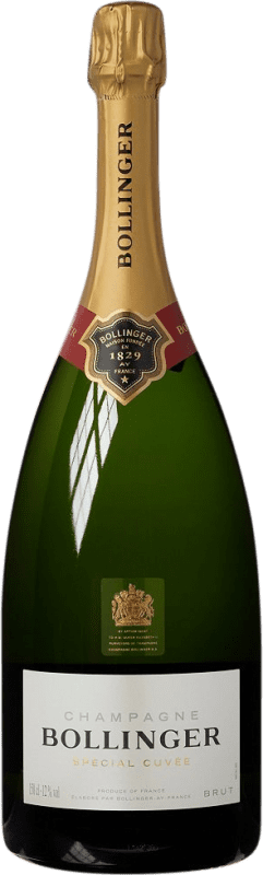 102,95 € Free Shipping | White sparkling Bollinger Cuvée Brut Gran Reserva A.O.C. Champagne France Pinot Black, Chardonnay, Pinot Meunier Magnum Bottle 1,5 L