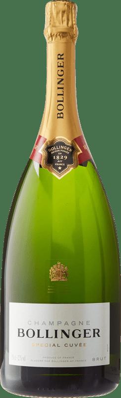 105,95 € Envoi gratuit | Blanc moussant Bollinger Cuvée Brut Gran Reserva A.O.C. Champagne France Pinot Noir, Chardonnay, Pinot Meunier Bouteille Magnum 1,5 L