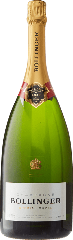 105,95 € Free Shipping | White sparkling Bollinger Cuvée Brut Gran Reserva A.O.C. Champagne France Pinot Black, Chardonnay, Pinot Meunier Magnum Bottle 1,5 L