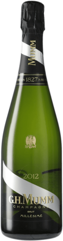 38,95 € Free Shipping | White sparkling G.H. Mumm Cordon Rouge Millesime Brut Gran Reserva A.O.C. Champagne France Pinot Black, Chardonnay, Pinot Meunier Bottle 75 cl