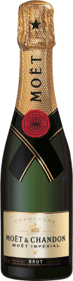 24,95 € Free Shipping | White sparkling Moët & Chandon Imperial Brut Gran Reserva A.O.C. Champagne France Pinot Black, Chardonnay, Pinot Meunier Half Bottle 37 cl