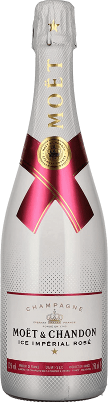 59,95 € Free Shipping | Rosé sparkling Moët & Chandon Ice Imperial Rosé Semi Dry A.O.C. Champagne France Pinot Black, Chardonnay, Pinot Meunier Bottle 75 cl