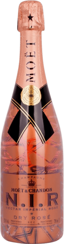 66,95 € Free Shipping   Rosé sparkling Moët & Chandon N.I.R. Brut Gran Reserva A.O.C. Champagne France Pinot Black, Chardonnay, Pinot Meunier Bottle 75 cl