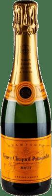28,95 € Envoi gratuit | Blanc moussant Veuve Clicquot Carte Jeune Brut Gran Reserva A.O.C. Champagne France Pinot Noir, Chardonnay, Pinot Meunier Demi Bouteille 37 cl